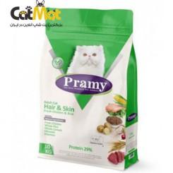 غذای خشک پرامی گربه بالغ (پوست و مو) با طعم مرغ و برنج 10kg