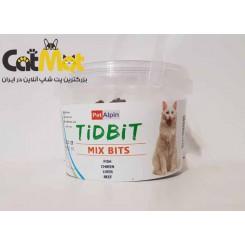 تشویقی سطلی میکس مخصوص گربه 180 گرمی Tidbit