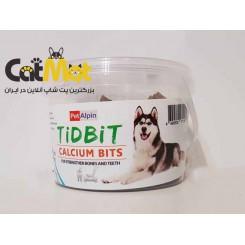 تشویقی سطلی تقویت استخوان مخصوص سگ 180 گرمی Tidbit
