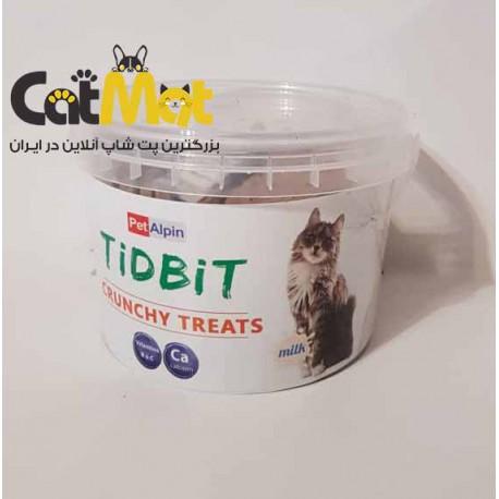 تشویقی سطلی گربه با طعم شیر Tidbit