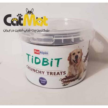 تشویقی سطلی سگ با طعم شکلات Tidbti