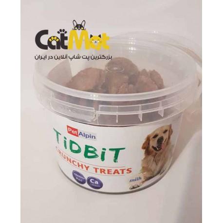 تشویقی سطلی سگ با طعم شیر Tidbit