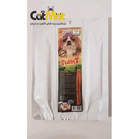 تشویقی مدادی نرم مخصوص سگ 10 عددی با طعم مرغ و بلوبری