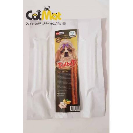 تشویقی مدادی نرم مخصوص سگ 10 عددی با طعم مرغ و موز