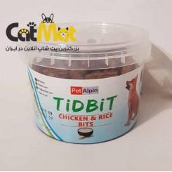 تشویقی سطلی مخصوص سگ با طعم مرغ و برنج Tidbit