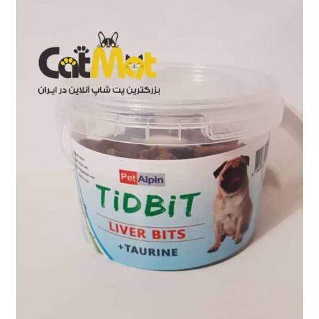 تشویقی سطلی مخصوص سگ با طعم جگر و تائورین Tidbit