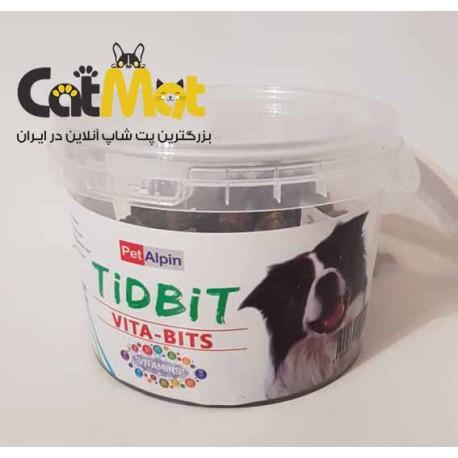 مکمل تشویقی حاوی ویتامین های روزانه مخصوص سگ Tidbti