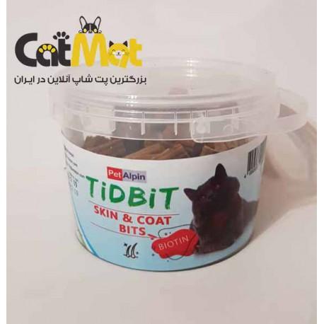 مکمل تشویقی پوست و مو حاوی بیوتین مخصوص گربه Tidbit