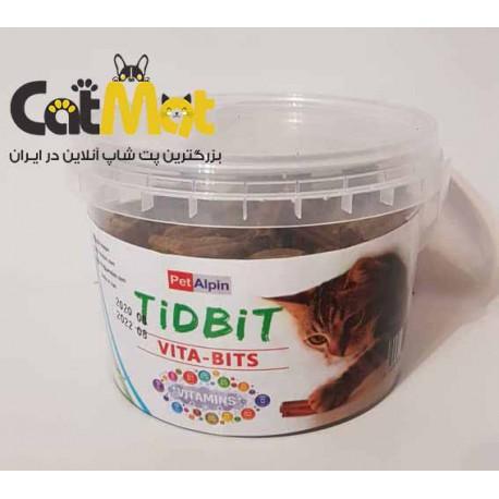 مکمل تشویقی حاوی ویتامین های روزانه مخصوص گربه Tidbit