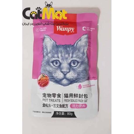 پ.چ گربه ونپی 80 گرمی با طعم
