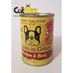 خوراک لوکا کنسرو پاپی (توله سگ) مرغ و گوشت