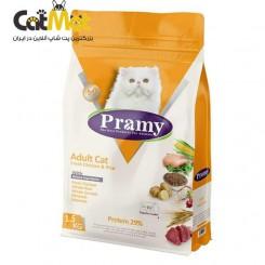 غذای خشک پرامی گربه بالغ (adult) با طعم مرغ و برنج 1.5kg