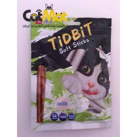 تشویقی مدادی نرم Tidbit مخصوص گربه 9 عددی با طعم شیر