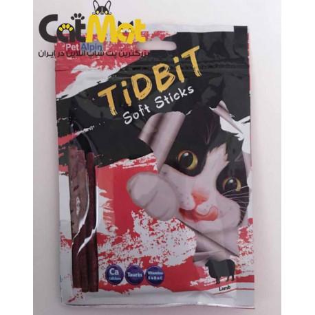 تشویقی مدادی نرم Tidbit مخصوص گربه 9 عددی با طعم بره