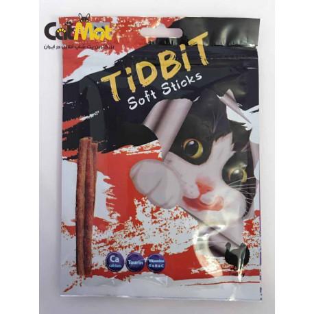 تشویقی مدادی نرم Tidbit مخصوص گربه 9 عددی با طعم بوقلمون