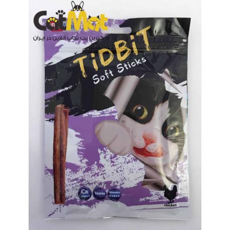 تشویقی مدادی نرم Tidbit مخصوص گربه 9 عددی با طعم مرغ