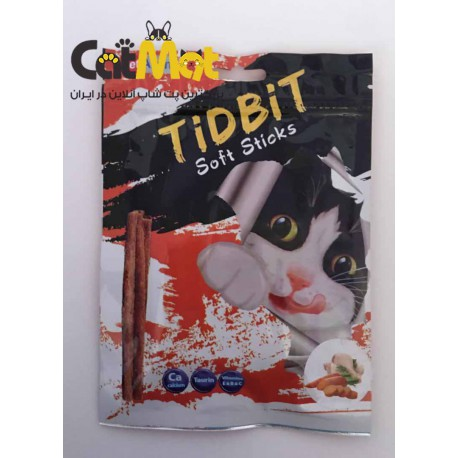 تشویقی مدادی نرم Tidbit مخصوص گربه 9 عددی با طعم مرغ و سبزیجات
