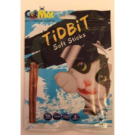 تشویقی مدادی نرم Tidbit مخصوص گربه 9 عددی با طعم ماهی