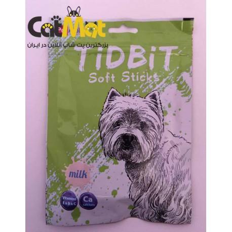 تشویقی مدادی نرم Tidbit مخصوص سگ 9 عددی با طعم شیر
