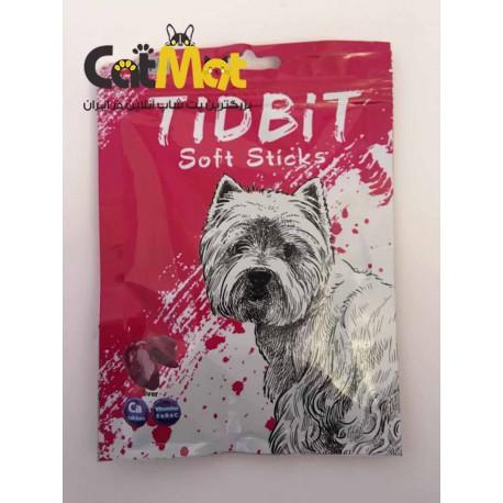 تشویقی مدادی نرم Tidbit مخصوص سگ 9 عددی با طعم جگر