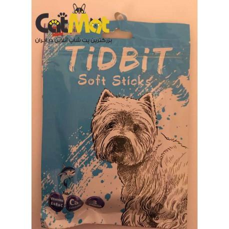تشویقی مدادی نرم Tidbit مخصوص سگ 9 عددی با طعم ماهی