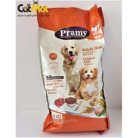 غذای خشک پرامی سگ های بالغ (adult)با طعم مرغ و برنج 10kg