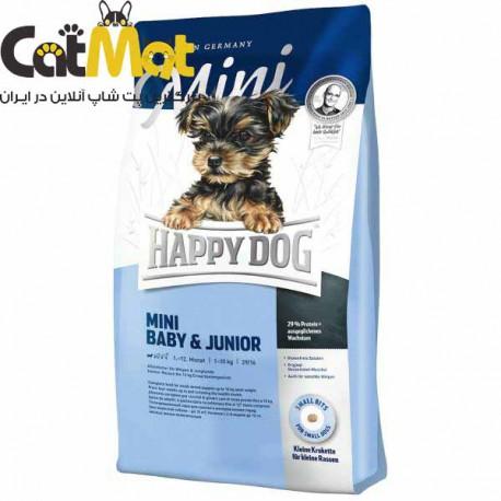 غذا خشک سوپر پرمیوم توله سگ و سگ جوان هپی داگ 8 کیلو