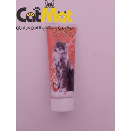 خمیر مالت گربه با طعم گوشت tidbit
