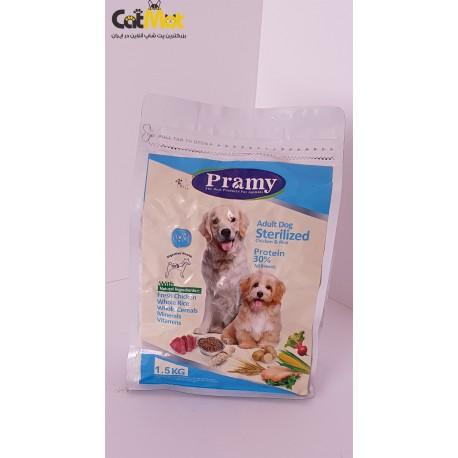 غذای خشک پرامی سگ بالغ عقیم شده با طعم مرغ و برنج 1.5kg