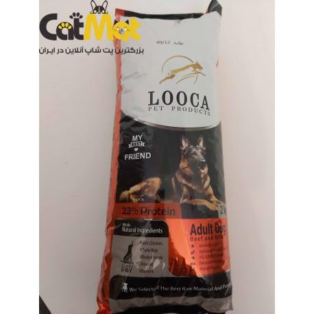 غذا خشک سگ بالغ لوکا با طعم گوشت و برنج 2 کیلویی