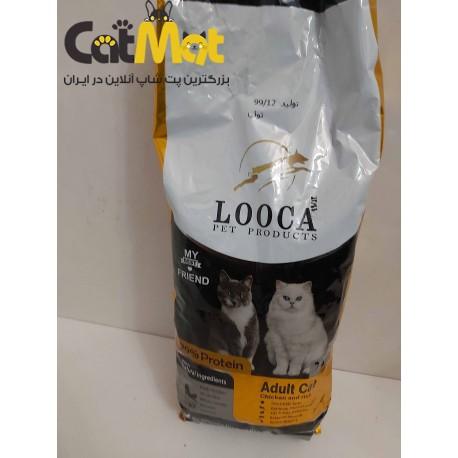 غذا خشک گربه بالغ با طعم مرغ و برنج لوکا 2 کیلویی