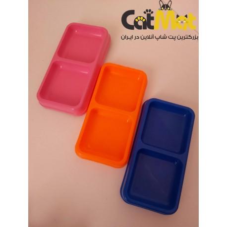 ظرف غذا دو قلو پلاستیکی 22*10