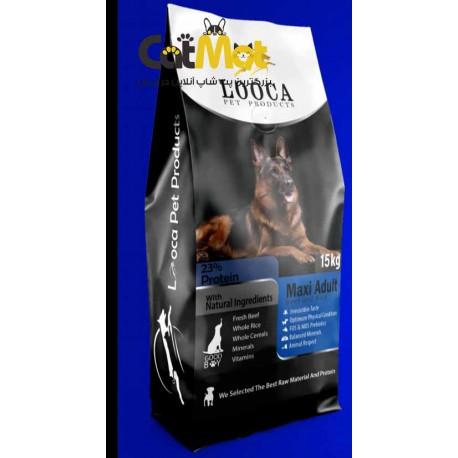 غذا خشک سگ بالغ لوکا با طعم گوشت و برنج 15 کیلویی