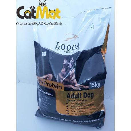 غذا خشک سگ بالغ لوکا با طعم مرغ و برنج 15 کیلویی