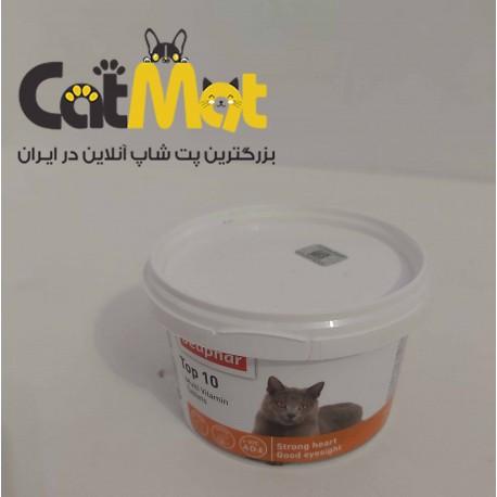 قرص ویتامین تاپ تن مخصوص گربه برند بیفار 180 عددی
