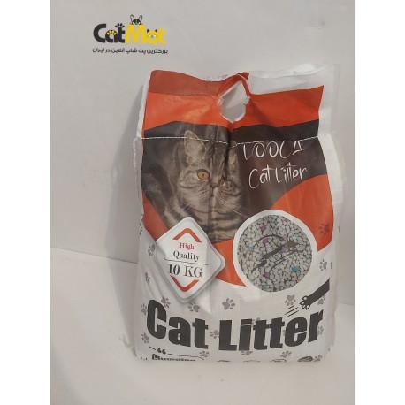 خاک گربه لوکت گرانول رنگی 10 کیلویی