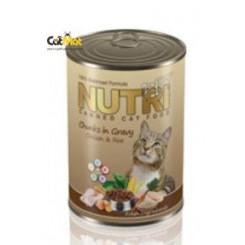 كنسرو نوتري گربه با طعم مرغ و برنج 425g