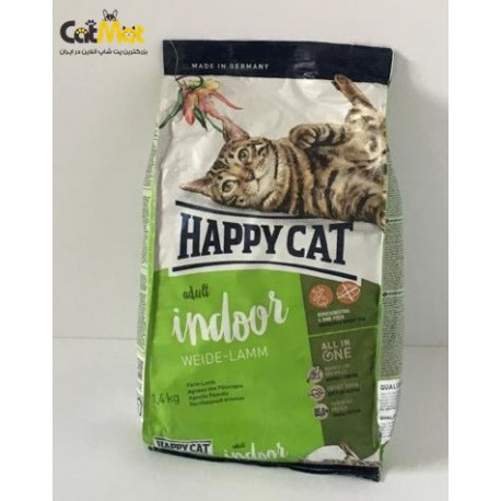 غذای خشک گربه بالغ هپی حاوی گوشت گوساله 1400g indoor