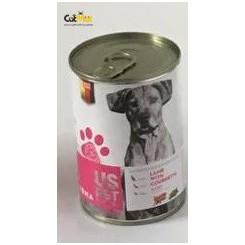 کنسرو سگ بالغ us pet حاوی گوشت بره با کدو سبز 400گرم