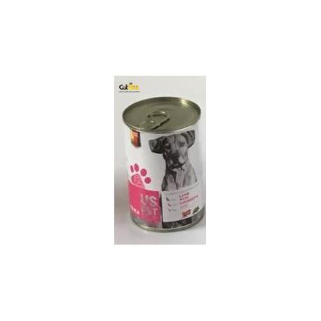 کنسرو سگ بالغ حاوی گوشت بره با کدو سبز 400گرم