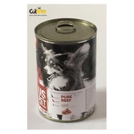 کنسرو سگ بالغ حاوی گوشت خالص گاو 400g