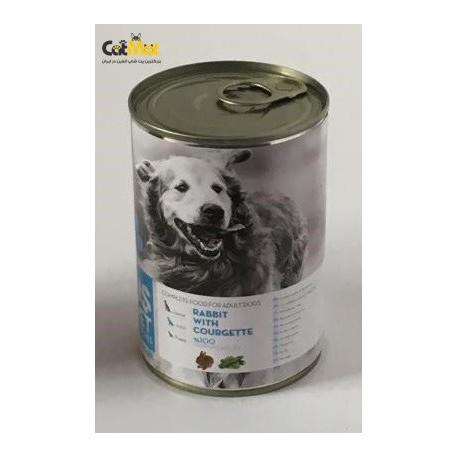 کنسرو سگ بالغ حاوی گوشت خرگوش با کدو سبز 400g