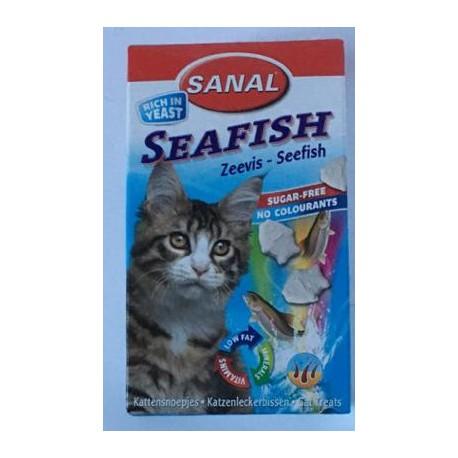 قرص گربه به همراه ویتامین با طعم ماهی دریایی