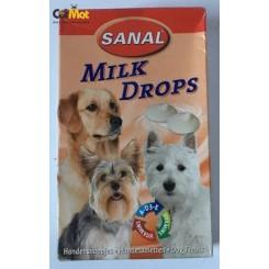 شکلات شیری قطره ای شکل sanal سگ به همراه ویتامین 125گرم
