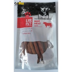 تشویقی سگ مدادی نرم us pet با طعم گوشت گوساله 100گرم