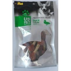 تشویقی سگ مدل دمبلی us pet با طعم اردک 100گرم