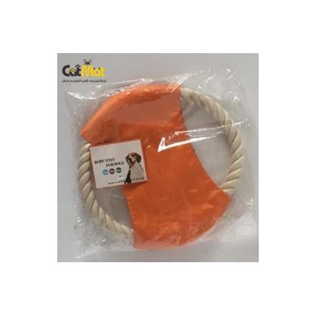اسباب بازی فریز بی دندانگیر سگ از جنس کنف-بسکتبال 20سانتی