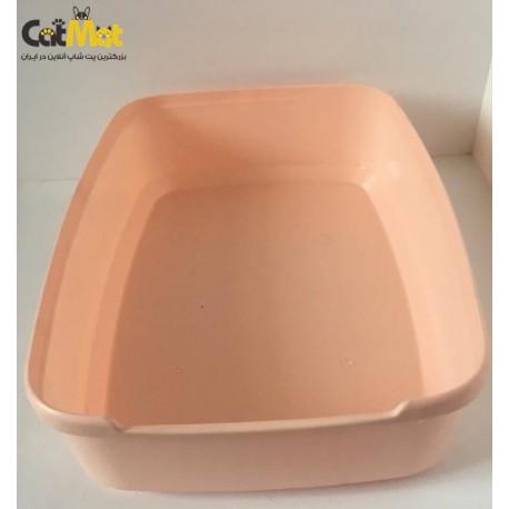 ظرف خاک گربه بدون لبه