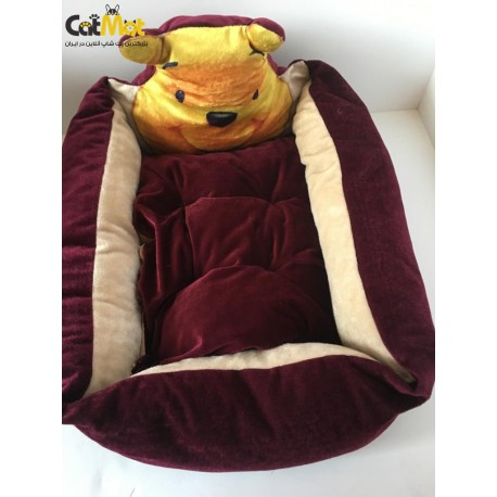 جای خواب سگ های کوچک و گربه بنفش تیره pooh 50*30