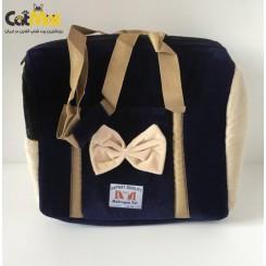 کیف حمل مخصوص سگ و گربه طرح پاپیون دار